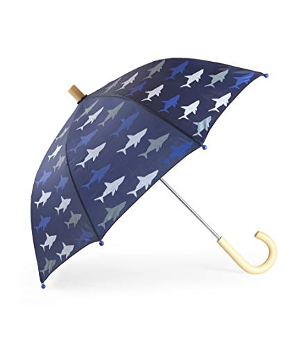 Hatley Boys' Little Printed Umbrellas, Colorful Sharks One Size