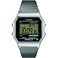 Timex Men's T78587 Classic Digital Silver-Tone Stainless Steel Expansion Band Watch