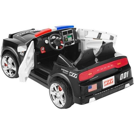 amazoncom kidtrax dodge pursuit police car 12 volt battery power electric ride on kt1081i toys games