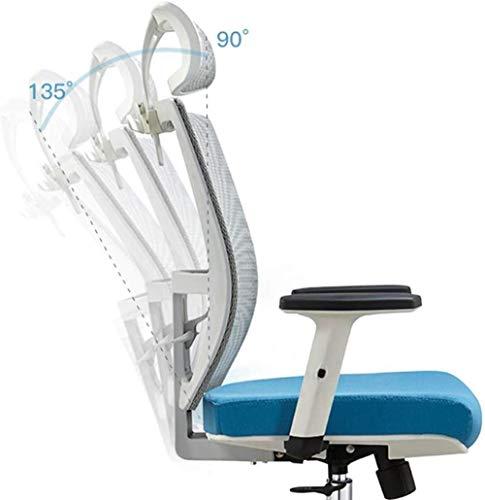 Barstolar THBEIBEI kontorskontorsstol spelstol datorstol uppgift stol nät svängbar stol hem lyft nackstöd båge ryggstöd bärvikt 250 kg vit