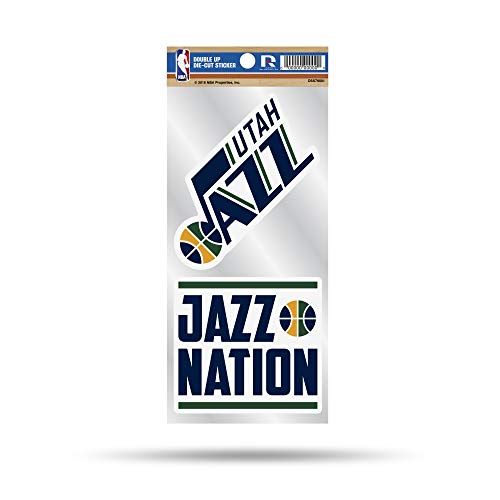 NBA Utah Jazz Double Up Die Cut 2-Piece Sticker Sheet