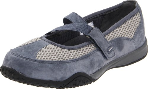 Propet Womens Zigzag Flat Denim Blue / Pebble Grey
