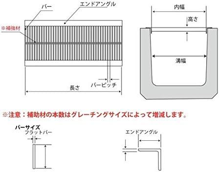 U字溝用溝幅180mm 標準並目溝蓋ステンレスグレーチング 内幅170×長さ994×高さ15ミリ オーダーメイド品 納期約10営業日 キャンセル不可 返品不可