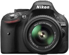"""Nikon D5200 - Cámara réflex digital de 24.1 Mp (pantalla 3"""", estabilizador óptico, grabación de vídeo), negro - kit con objetivo Nikkor AF-S DX 18-55 mm f:3.5 VR II"""
