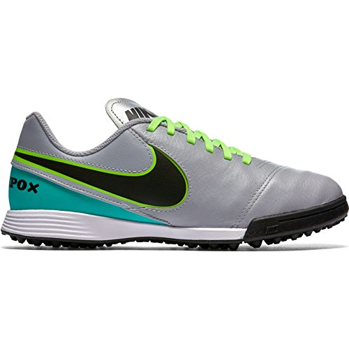 4bb44446fa9 Nike Youth Tiempox Legend VI Turf Shoes  Wolf Grey  (2.5Y) by
