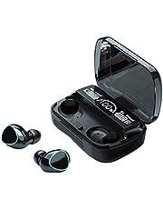 WINOMO Wireless Earbuds 5.1Wireless Earbuds IPX7 Waterproof Sport Wireless Earphones Touch Control Stereo Headset with Wireless Charging Case 2000mah (Black)