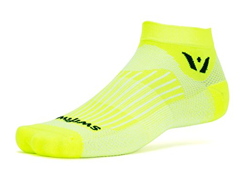 Swiftwick - Aspire ONE, Ankle Socks for Running and Cycling, Yellow , Large