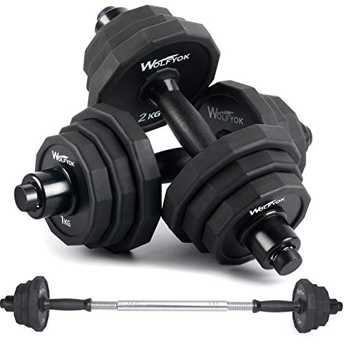 KISS GOLD 44Lbs/66Lbs Dumbbells Set, Adjustable Weights Steel Dumbbells Pair for Adults Home Fitness Equipment Gym…