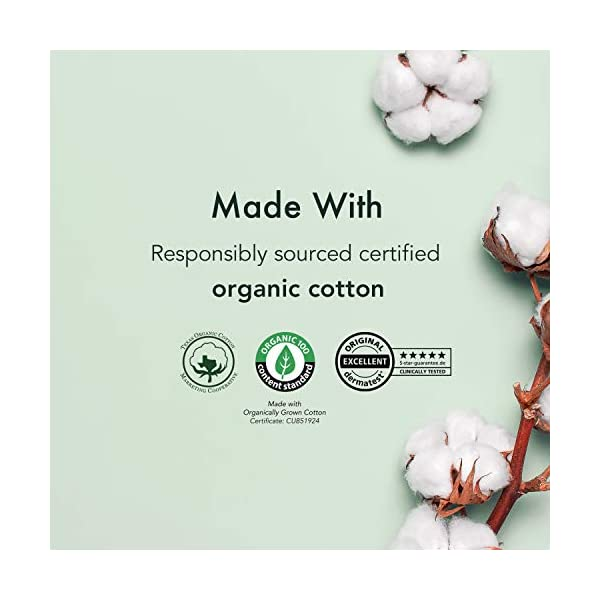 Rael Organic Cotton Sanitary Pads - Extra Long Overnight Size, Heavy Absorbency, Postpartum, Unscented, Ultra Thin Pads…