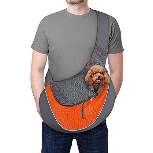 Image of YUDODO Pet Dog Sling Carrier Breathable Mesh Travel Safe Sling