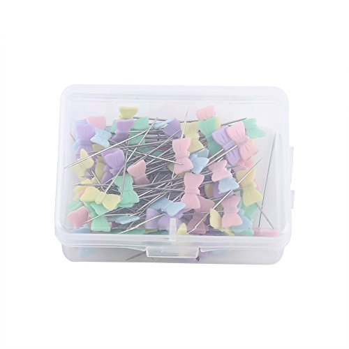 100 Pcs Flower Head Pins Sewing Quilting Patchwork DIY Tool Accessories (Bow - Pin Cushion Spool