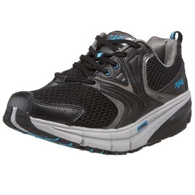 Ryka Women's Reform Athletic Toning Shoe,Black/Steel Grey/Splash Blue,10.5 M US