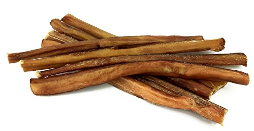"Peppy Pooch 12"" Bully Sticks 8 Pack, All Natural Beef Chews For Dogs, USDA/FDA Approved For Sale"