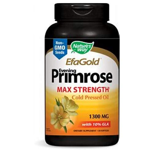 Nature's Way Evening Primrose 1300 Mg Oil Cold Presed Softgels - 60 Ea, 3 Pack ()
