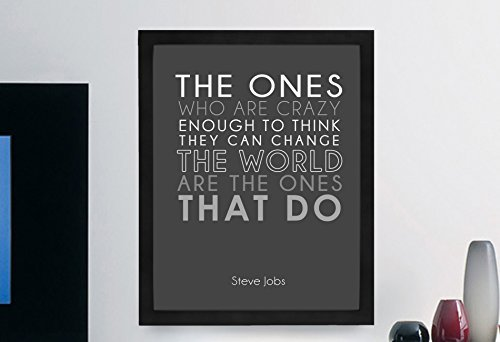 "Steve Jobs Inspirational Typography Quote Print ""The Ones Who Are Crazy"" Wall Décor Illustration 11×14 Print"