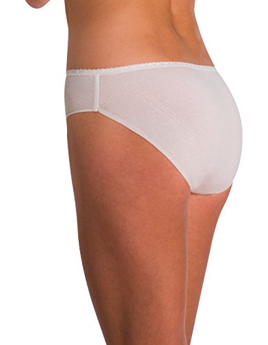 Naomi and Nicole Edgies White Laser Cut Hipster A143 Medium (Brand Size 6) Nicole Hipster Panties