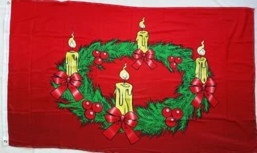 Flagge Fahne Advent Kerzen Weihnachten 90x150 cm F4094