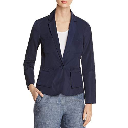(Kenneth Cole New York Womens Two-Button Blazer Indigo 8)