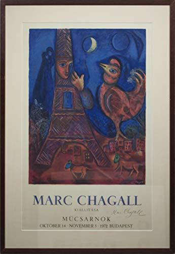 Marc Chagall-Good Morning Paris-1972 Lithograph-Signed ()
