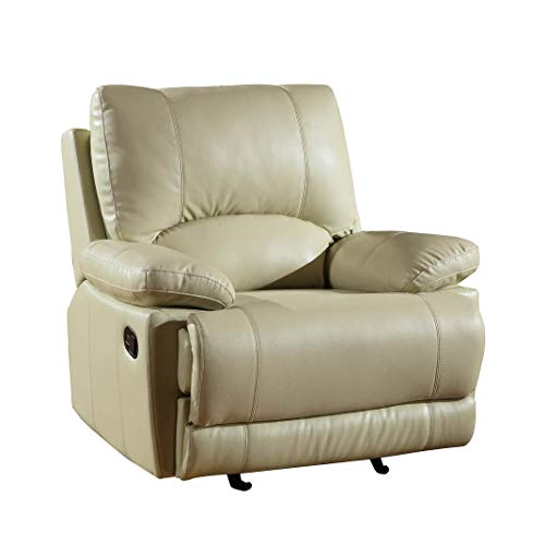 Blackjack Furniture 9345-BEIGE-CH Chair Leather Match Accent Chair, Beige , 1 - Chair Accent Match