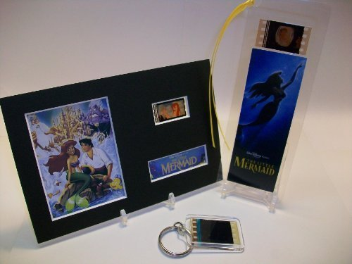 LITTLE MERMAID 3 Piece Film Cell Collection Collectible Movie Memorabilia ()