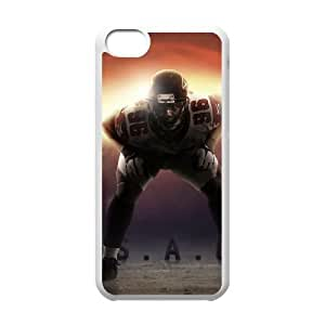 NFL iPhone 5c White Cell Phone Case Atlanta Falcons PNXTWKHD0015 NFL 3D Durable Phone Case Cover