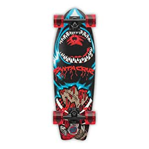 "Santa Cruz Retro Shark Land Shark Cruzer Complete Skateboard, Assorted, 27.7""L x 8.8""W"