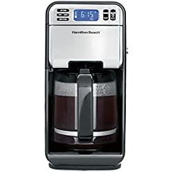Hamilton Beach (46205) Coffee Maker, Programmable with 12 Cup Capacity, Stainless Steel