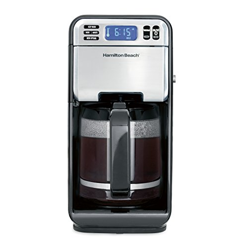 Hamilton Beach (46205) Coffee Maker, Programmable with 12 Cup Capacity, Stainless Steel ()