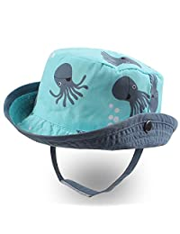 XIAOHAWANG Baby Sun Hat Boys Girls Toddler Summer Bucket Outdoor Child Beach Caps UPF 50+