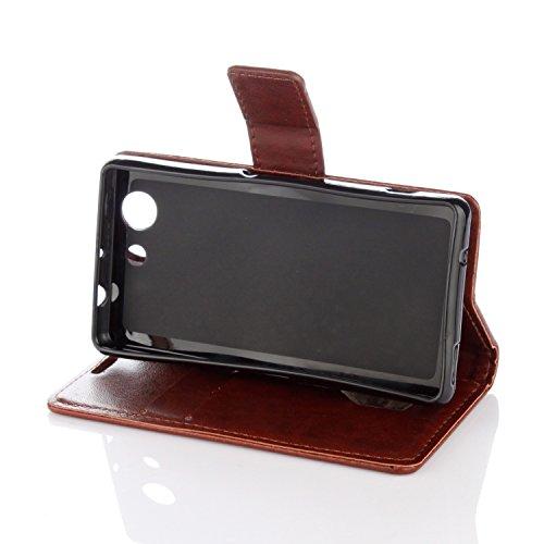 Silikonsoftshell PU Hülle für Sony Xperia Z3 COMPACT /Z3 Mini (4,6 Zoll) Tasche Schutz Hülle Case Cover Etui Strass Schutz schutzhülle Bumper Schale Silicone case