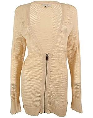Calvin Klein Women's Mesh Cardigan Sweater