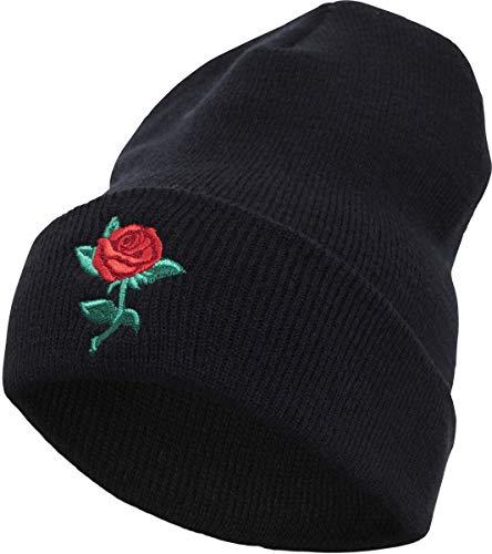 Black Beanie Tee Mister Size One Black Cap Rose ZEIE7qwB