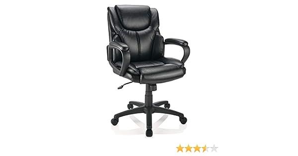 Surprising Brenton Studio Mayhart Vinyl Mid Back Chair Black Alphanode Cool Chair Designs And Ideas Alphanodeonline