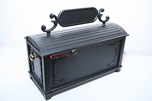 Classic Pedestal Mailbox Package (Premium Cast Aluminum MailBox, Classic Decorative with Large Capacity Post Mount Box)
