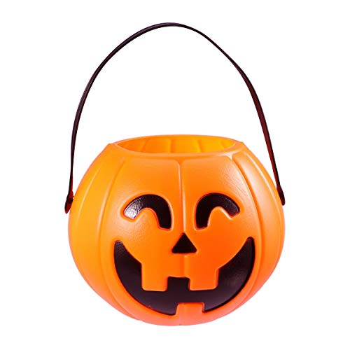 YeahiBaby 17cm Pumpkin Candy Holder Trick Treat Halloween Candy Buckets Party Favors -