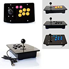 Hanbaili DIY Arcade Machine Joystick Acrylic Panel + Case Shell Set Replacement Parts