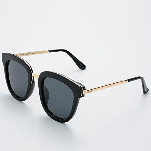 redondas Hombre gafas Mujer TL verano polarizadas sol Silver Sunglasses guía de UV400 Gray de metálica gafas cuadrada BwqwOxS