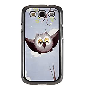 Bkjhkjy Flying Owl Pattern Mirror Smooth Back Hard Case with HD Screen Film 3 Pcs for Samsung Galaxy S3 I9300