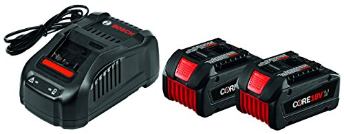 Bosch GXS18V-02N24 18V Starter Kit with CORE18V Batteries and Charger, Black by Bosch
