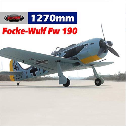 (DYNAM RC Airplane Focke Wulf FW-190 1270mm Wingspan - SRTF)