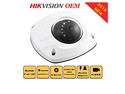 4MP PoE Wireless Security IP Camera - Mini Dome,Indoor and Outdoor,Wide Angle 2.8mm Lens,Built in WiFi,Microphone Audio, Alarm I/O Compatible as Hikvision DS-2CD2542FWD-IWS 3 Year Warranty by hikvision