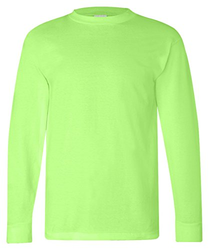 - Bayside American Made Cotton Basic T-Shirt, LIME GREEN, X-Large