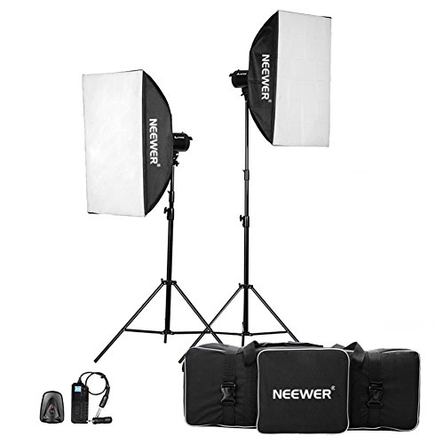 Neewer 800W(400W x 2)Professional Photography Studio Strobe Flash Light Monolight Lighting Kit for Portrait Photography,Studio and Video Shoots( MT-400) by Neewer