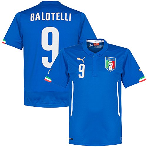Puma FIGC Balotelli Home Shirt Repl team power blue, Größe Puma:L