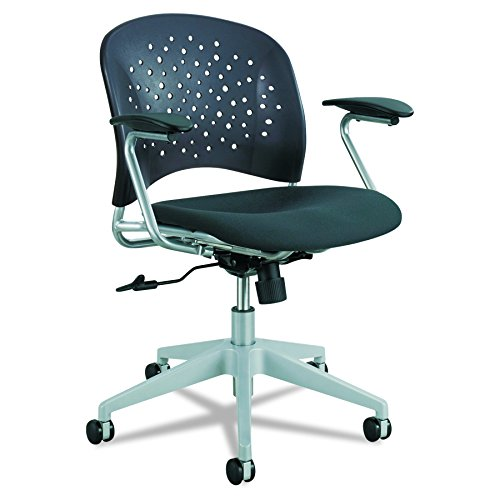 - Safco Products 6803BL Reve Task Chair with Round Back, Black