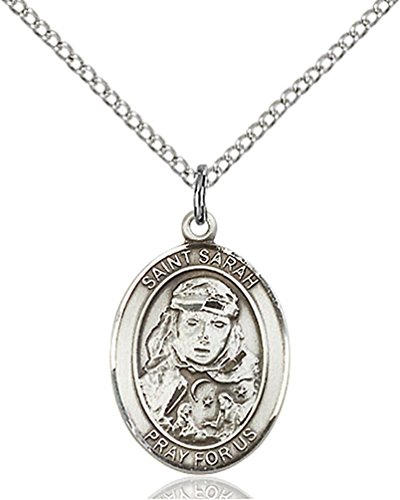 F A Dumont Sterling Silver St. Sarah Pendant with 18