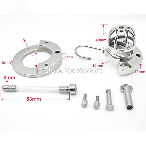 Hetam 2017 NEW Super Small Male Chastity Device Adult Cock Cage With Urethral Catheter BDSM Sex Toys Stainless Steel Chastity Belt by Hetam