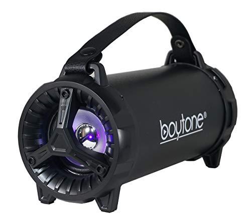Boytone BT-40BK Portable Indoor/Outdoor 2.1 Hi-Fi Cylinder Loud Built-in 2x3 Sub SD USB, USB Built