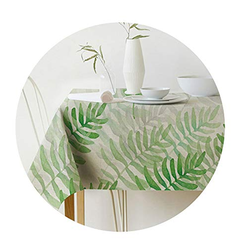 COOCOl Great Table Cloth Rectangular Pastoral Style Tropical Plants Printed Tablecloth Home Table Cover, 6060Cm ()